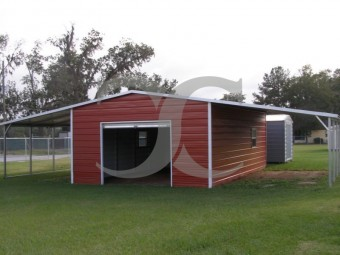 Metal Barn Shed | Boxed Eave Roof | 42W x 26L x 8H | Lean-tos