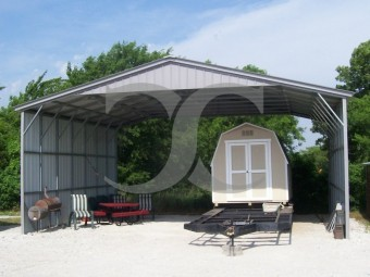 Carport | Vertical Roof | 30W x 26L x 12H | Triple-Wide