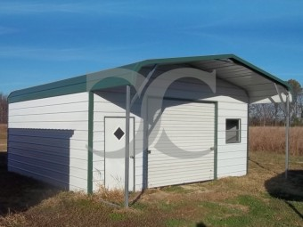 Garage | Regular Roof | 22W x26 L x 8H |  Enclosed Garage with Porch