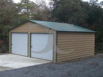Garage | Boxed Eave Roof | 24W x 26L x 10H` | Side Entry